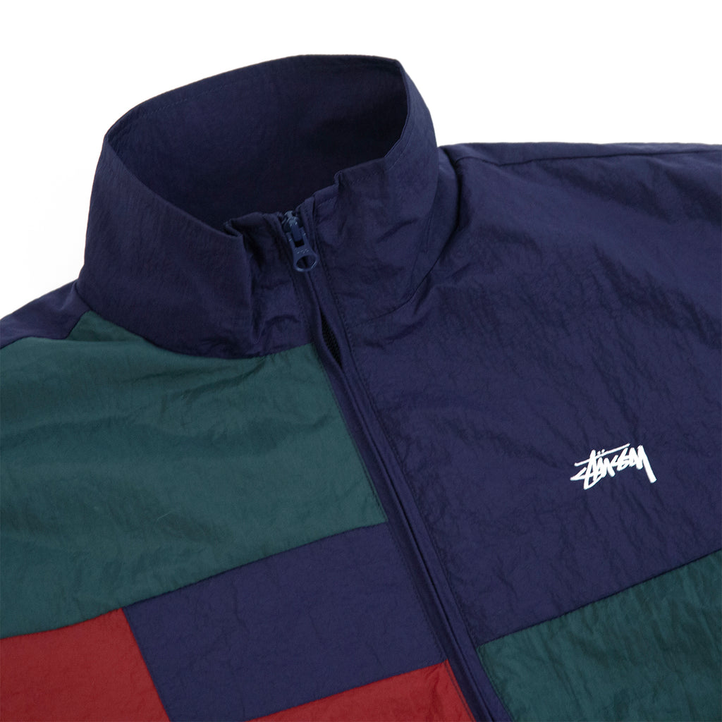 Stussy Panel Track Jacket in Navy - Detail