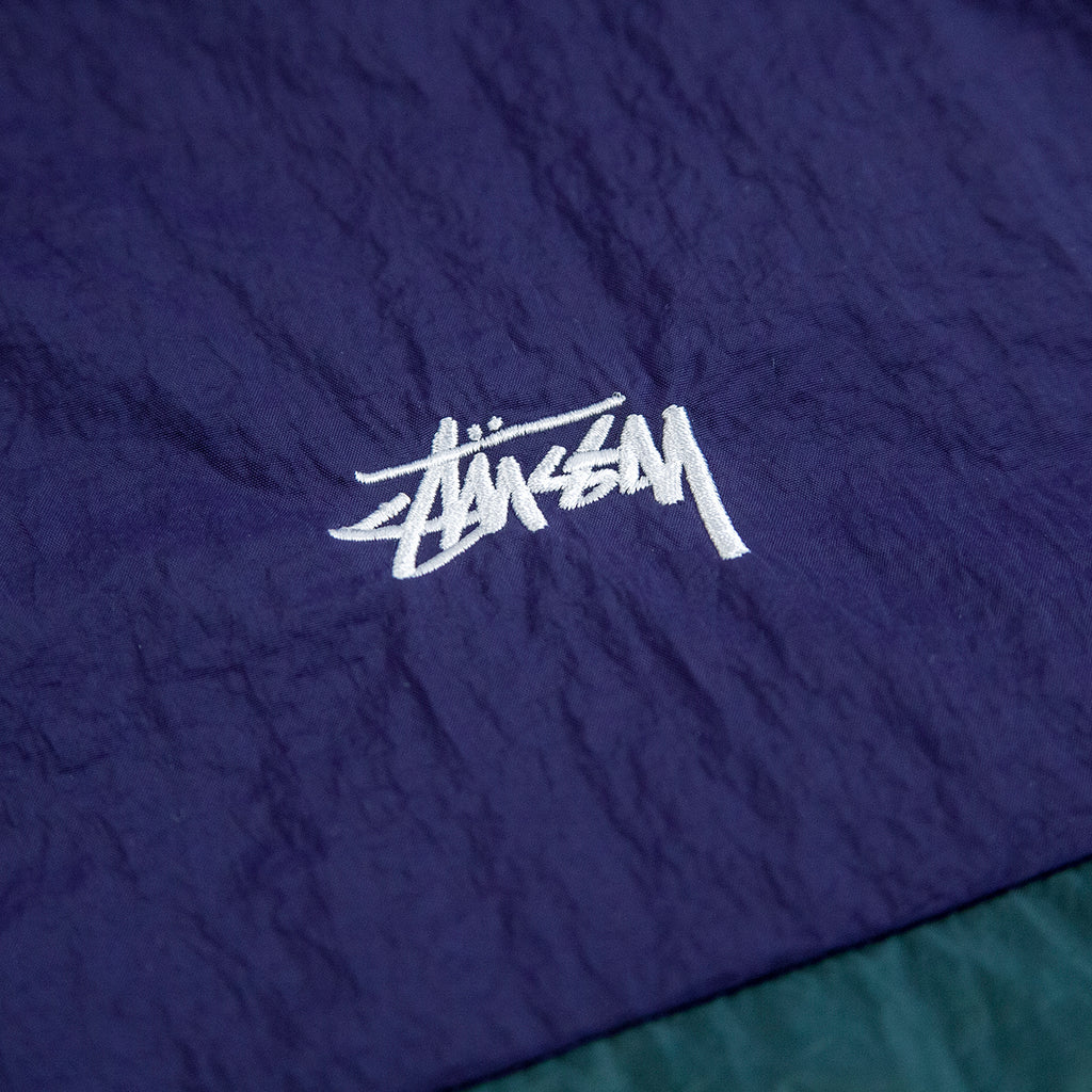 Stussy Panel Track Jacket in Navy - Embroidery