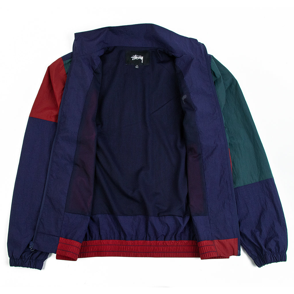 Stussy Panel Track Jacket in Navy - Open