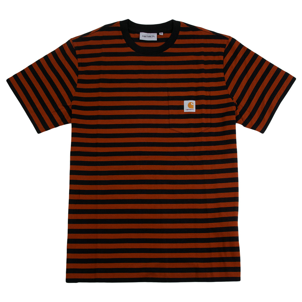 Carhartt WIP Parker Pocket T Shirt in Black / Brown