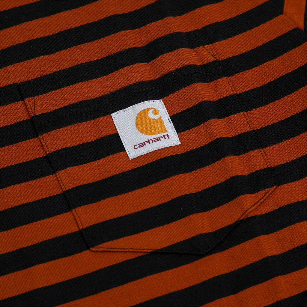 Carhartt WIP Parker Pocket T Shirt in Black / Brown - Pocket