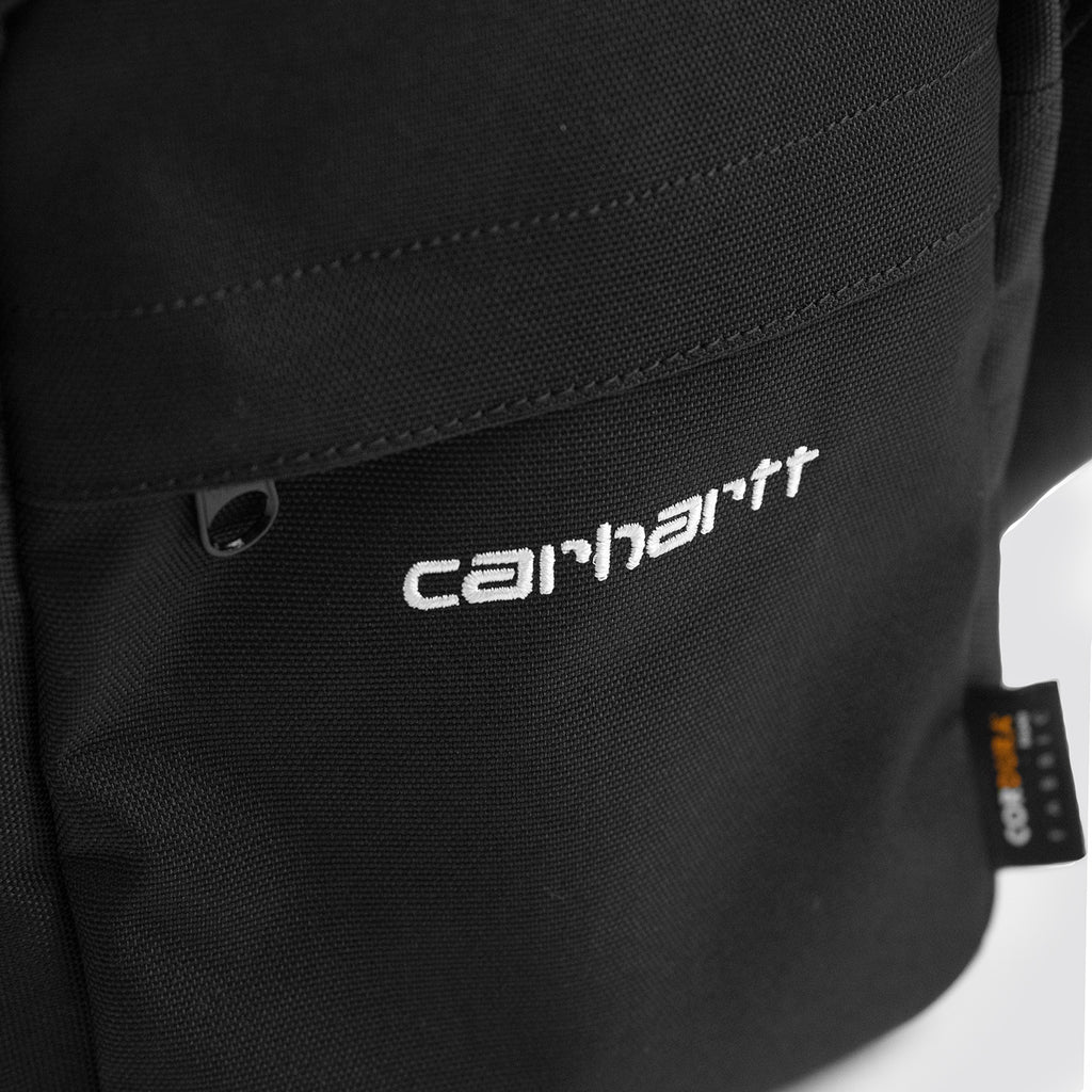 Carhartt WIP Payton Shoulder Pouch Bag in Black / White - Embroidery