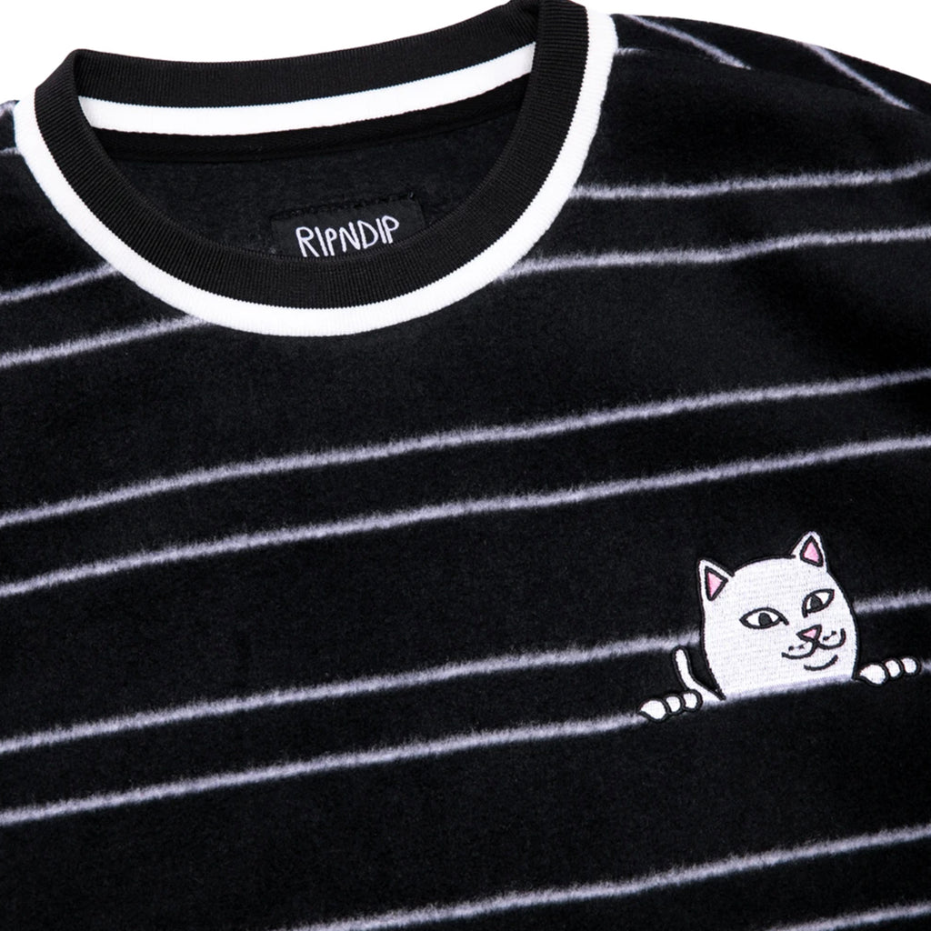 RIPNDIP Peeking Nermal Fleece Sweatshirt in Black - Detail