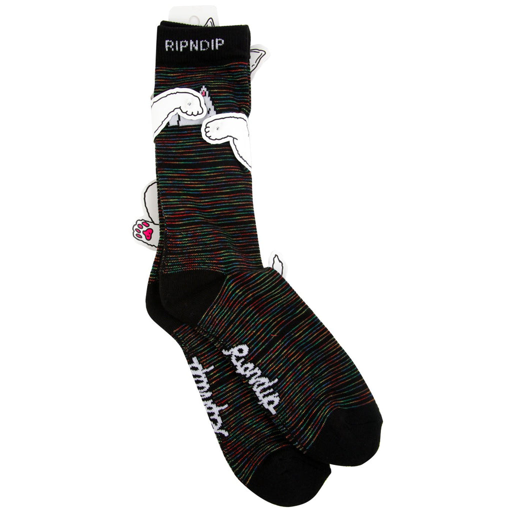 RIPNDIP Peeking Nerm Socks in Space Dye - Pair