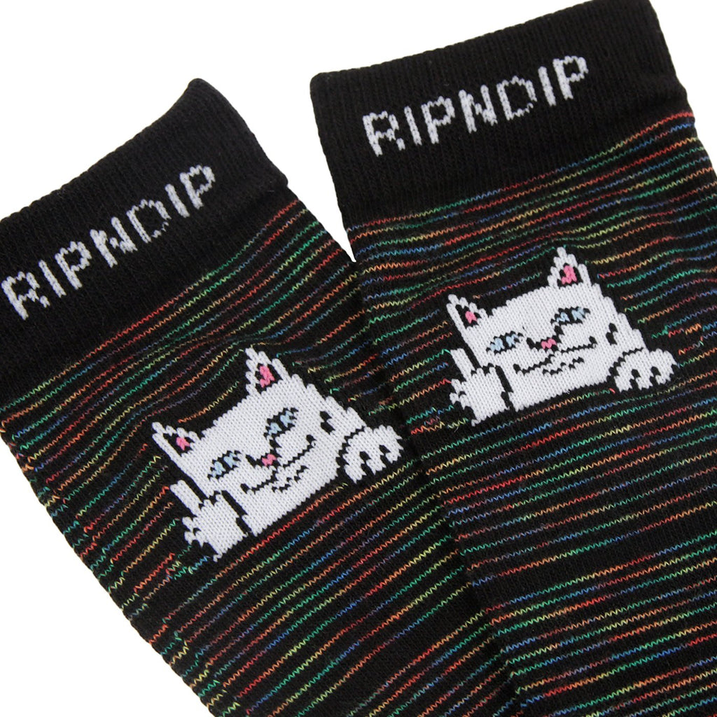 RIPNDIP Peeking Nerm Socks in Space Dye - Detail