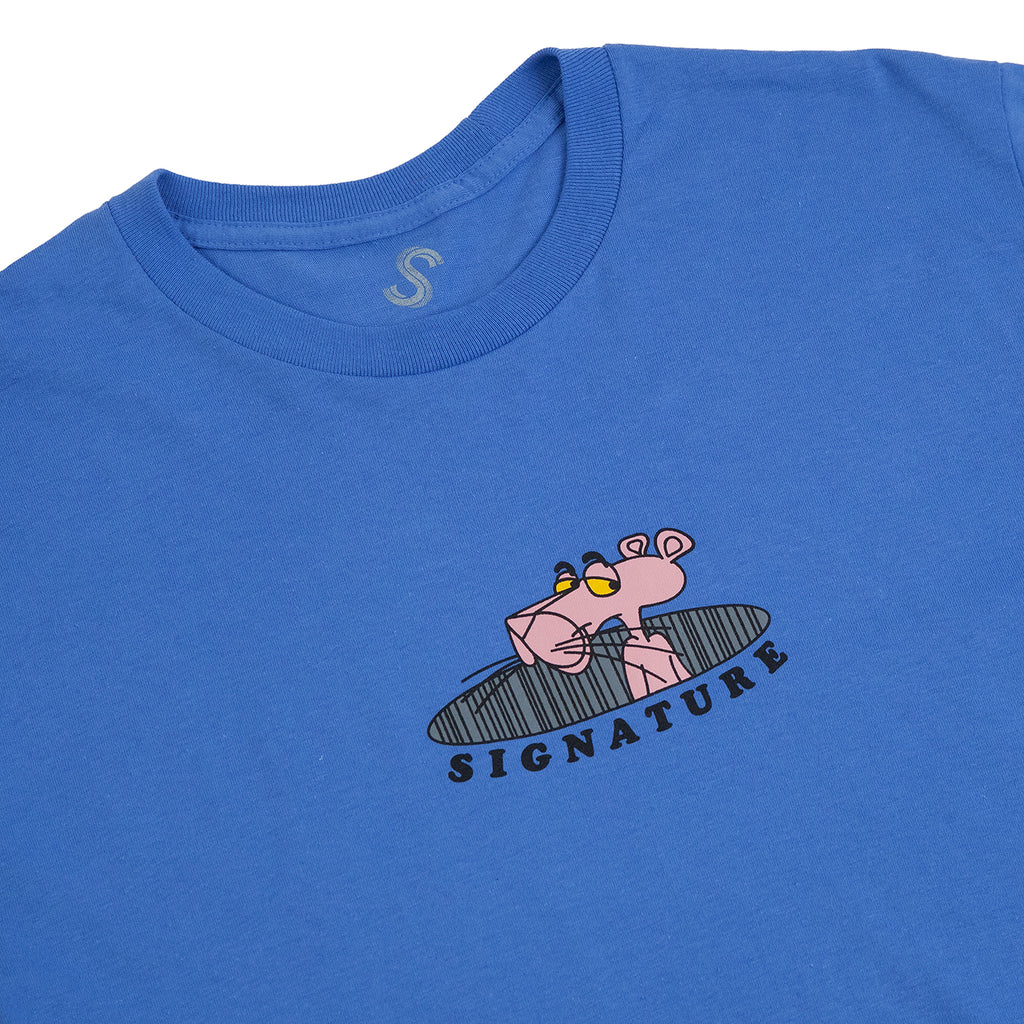 Signature Clothing Pink T Shirt in Iris Blue - Detail