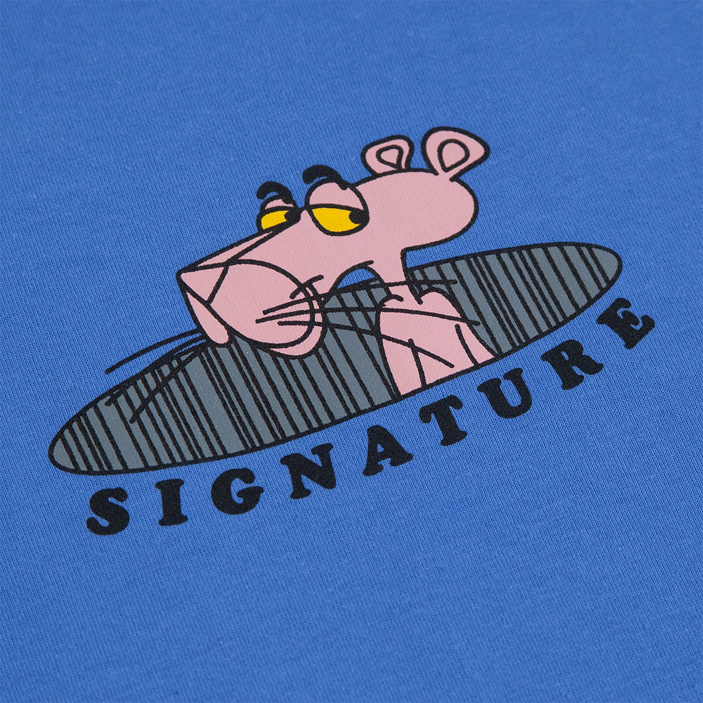 Signature Clothing Pink T Shirt in Iris Blue - Print