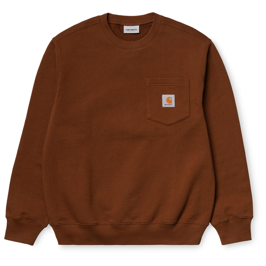 Carhartt WIP Pocket Sweatshirt in Brandy