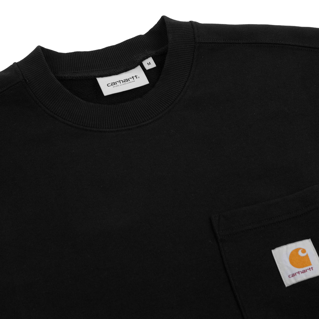 Carhartt WIP Pocket Sweatshirt in Black - Detail