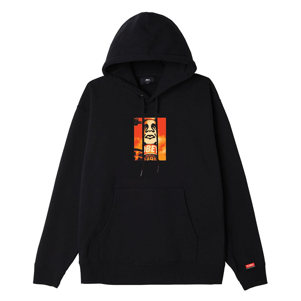 Obey Clothing Pole 30 Years Hoodie in Black