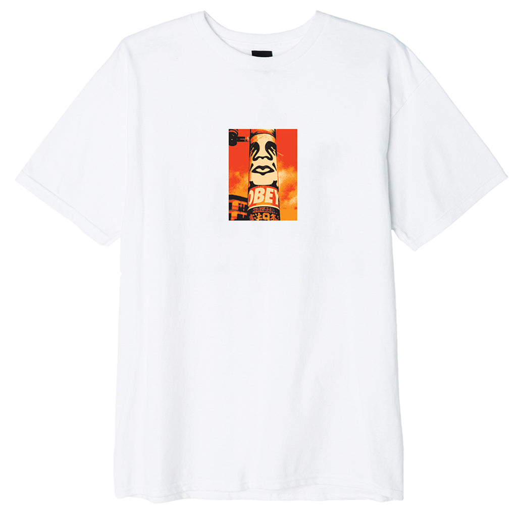 Obey Clothing Pole 30 Years T Shirt in White