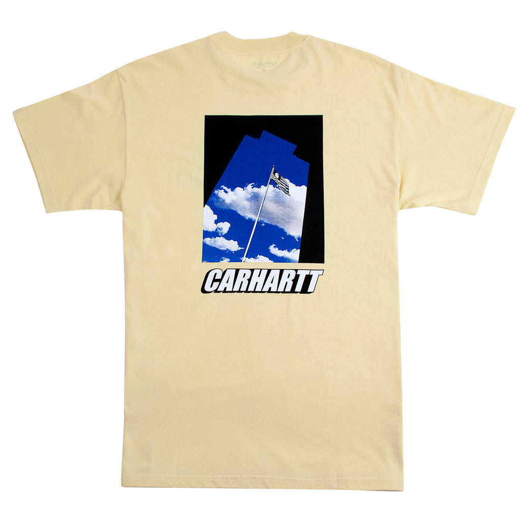 Carhartt WIP Post T Shirt in Pale Yellow