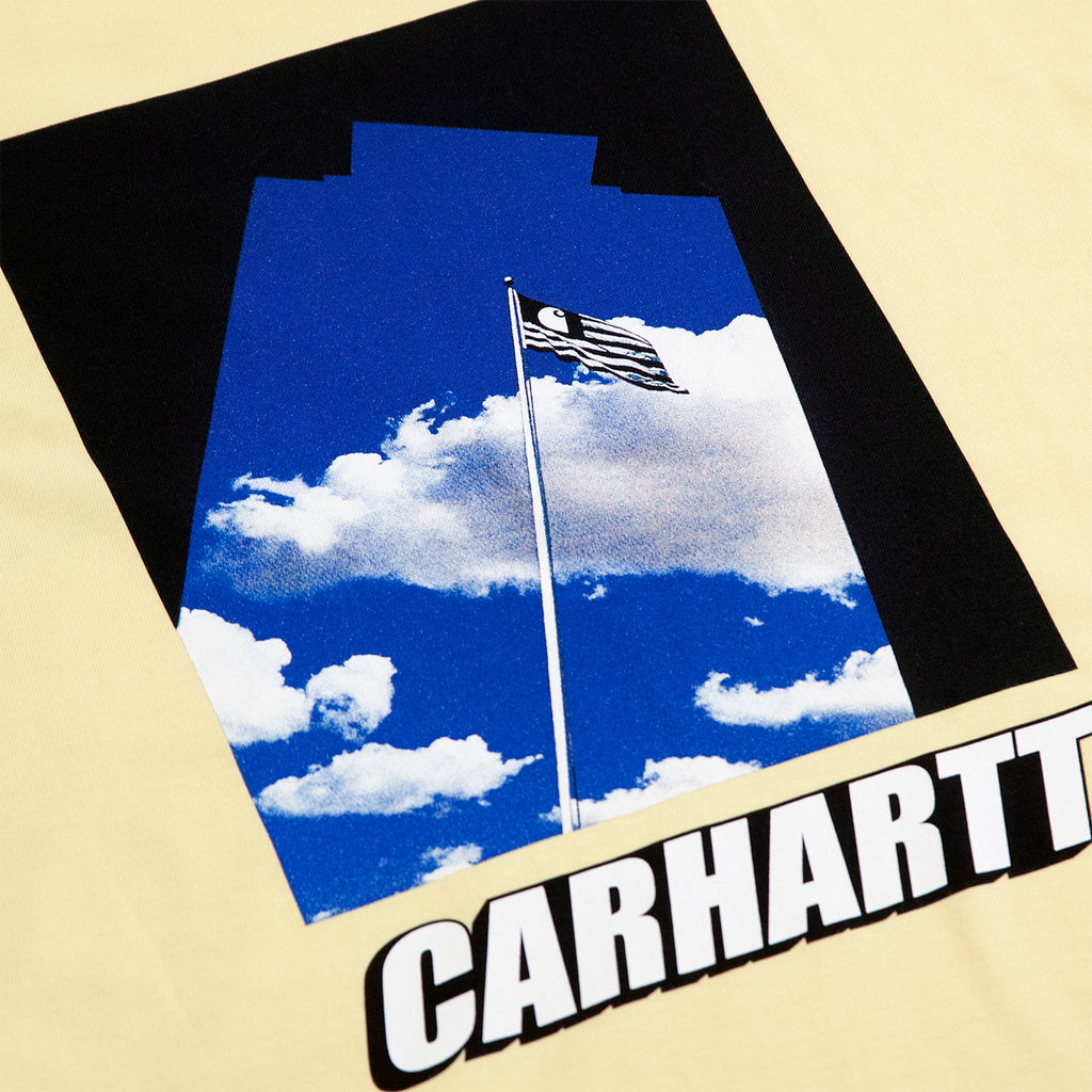 Carhartt WIP Post T Shirt in Pale Yellow - Back Print