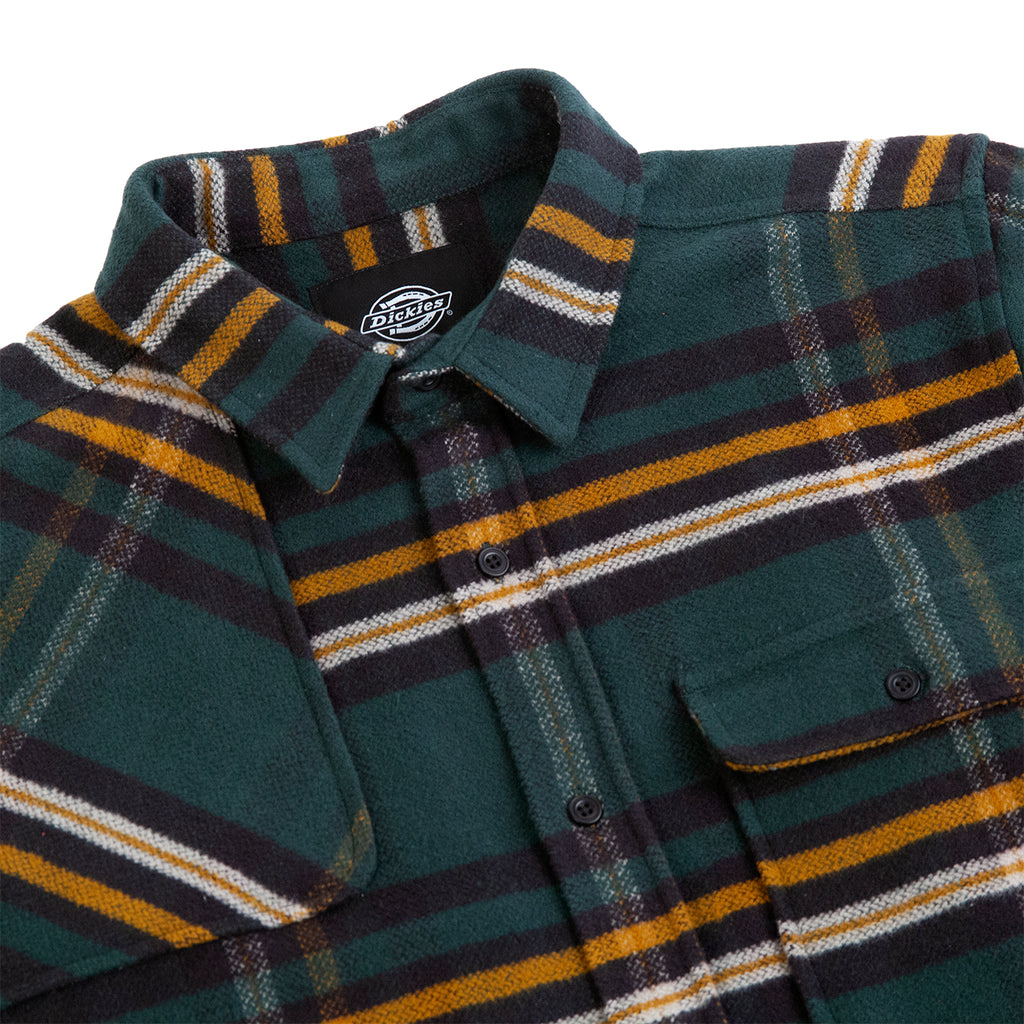 Dickies Prestonburg Shirt in Forest - Detail
