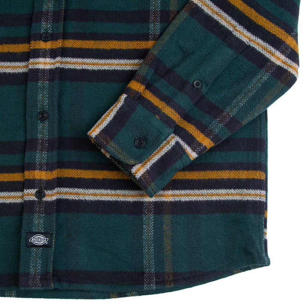 Dickies Prestonburg Shirt in Forest - Cuff