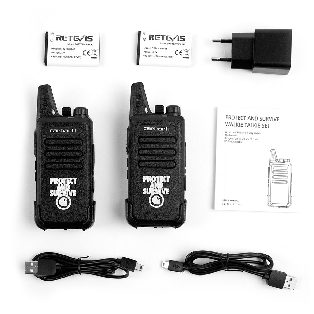 Carhartt WIP Protect Survive Walkie Talkie in Black - Contents