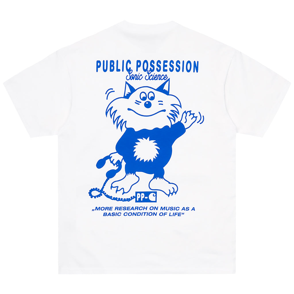 Carhartt WIP Relevant Parties Public Possession T Shirt White / Blue - Back