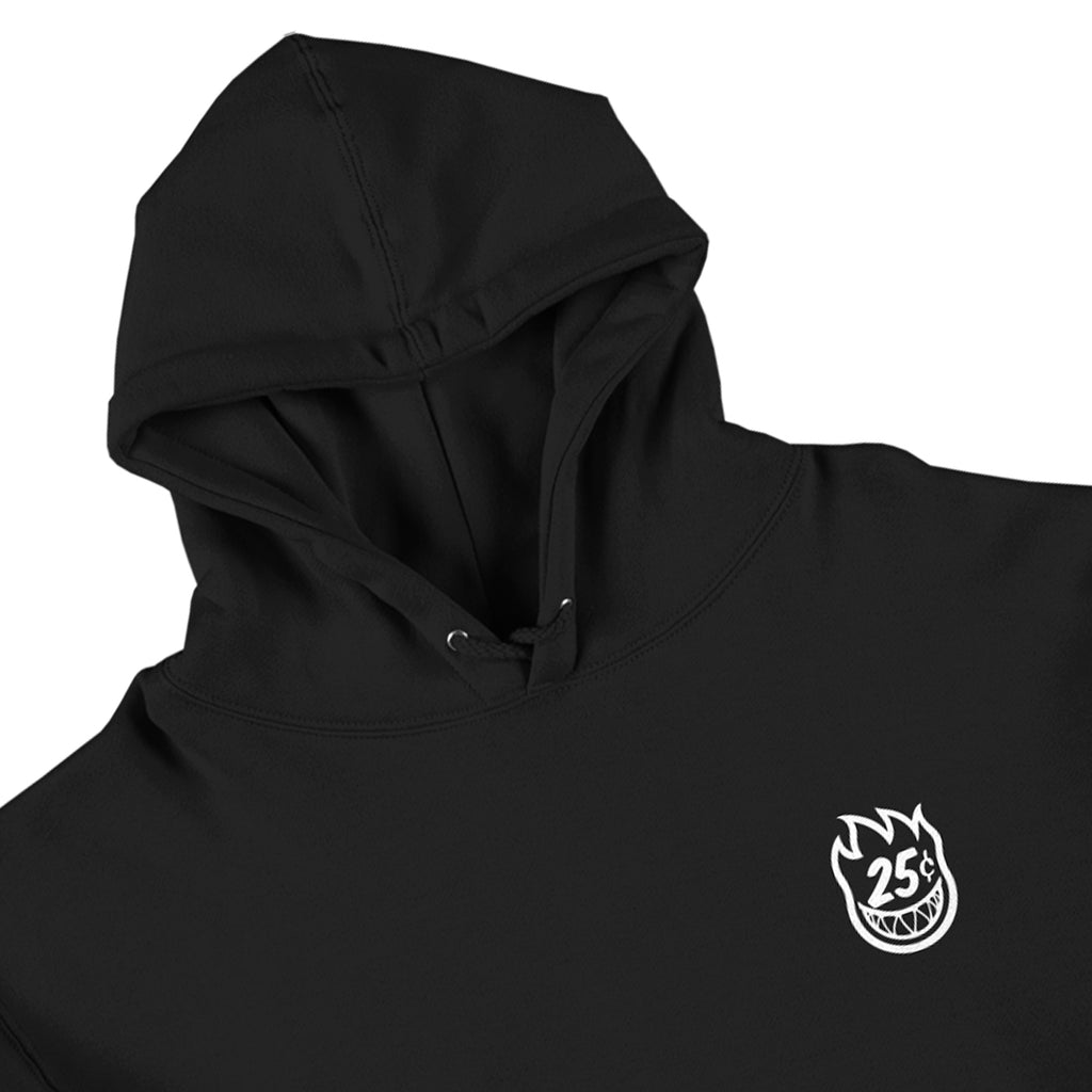 Spitfire x Quartersnacks Snackman Hoodie in Black - Detail