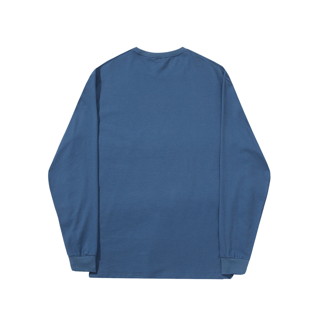 Helas L/S Rarissime T Shirt in Blue - Back