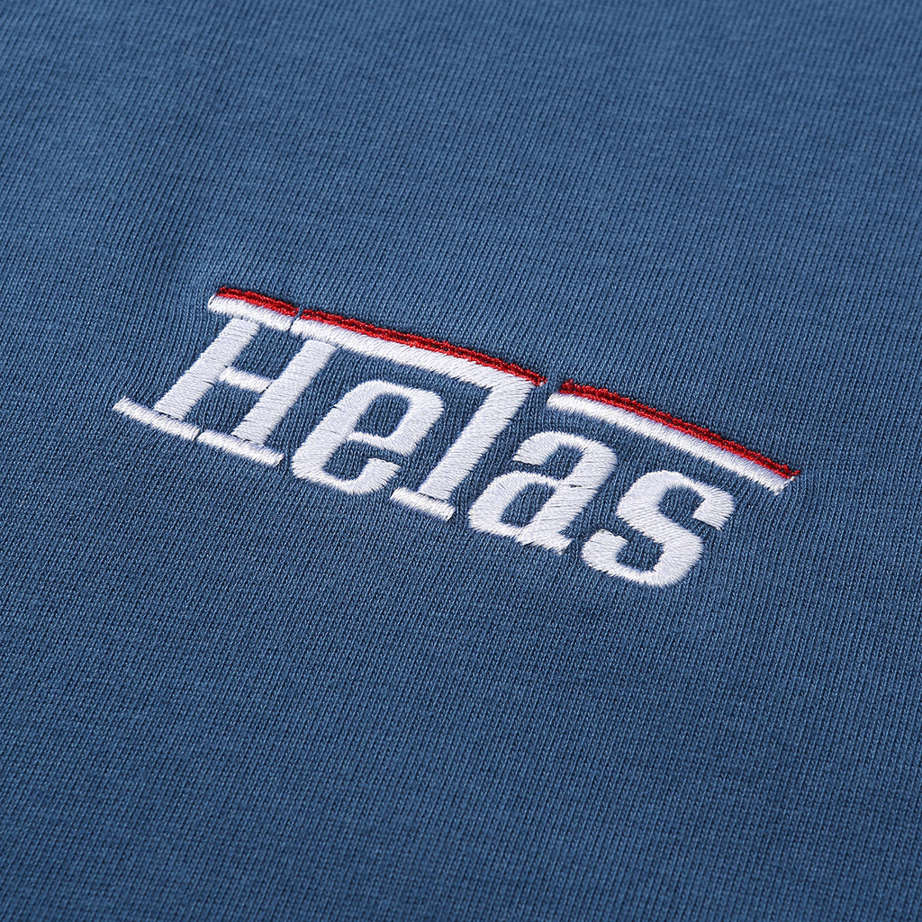 Helas L/S Rarissime T Shirt in Blue - Embroidery