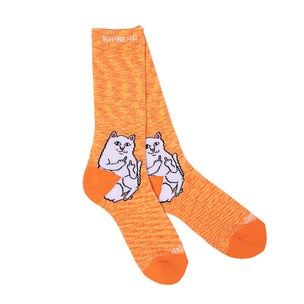 RIPNDIP Lord Nermal Socks in Orange Speckle