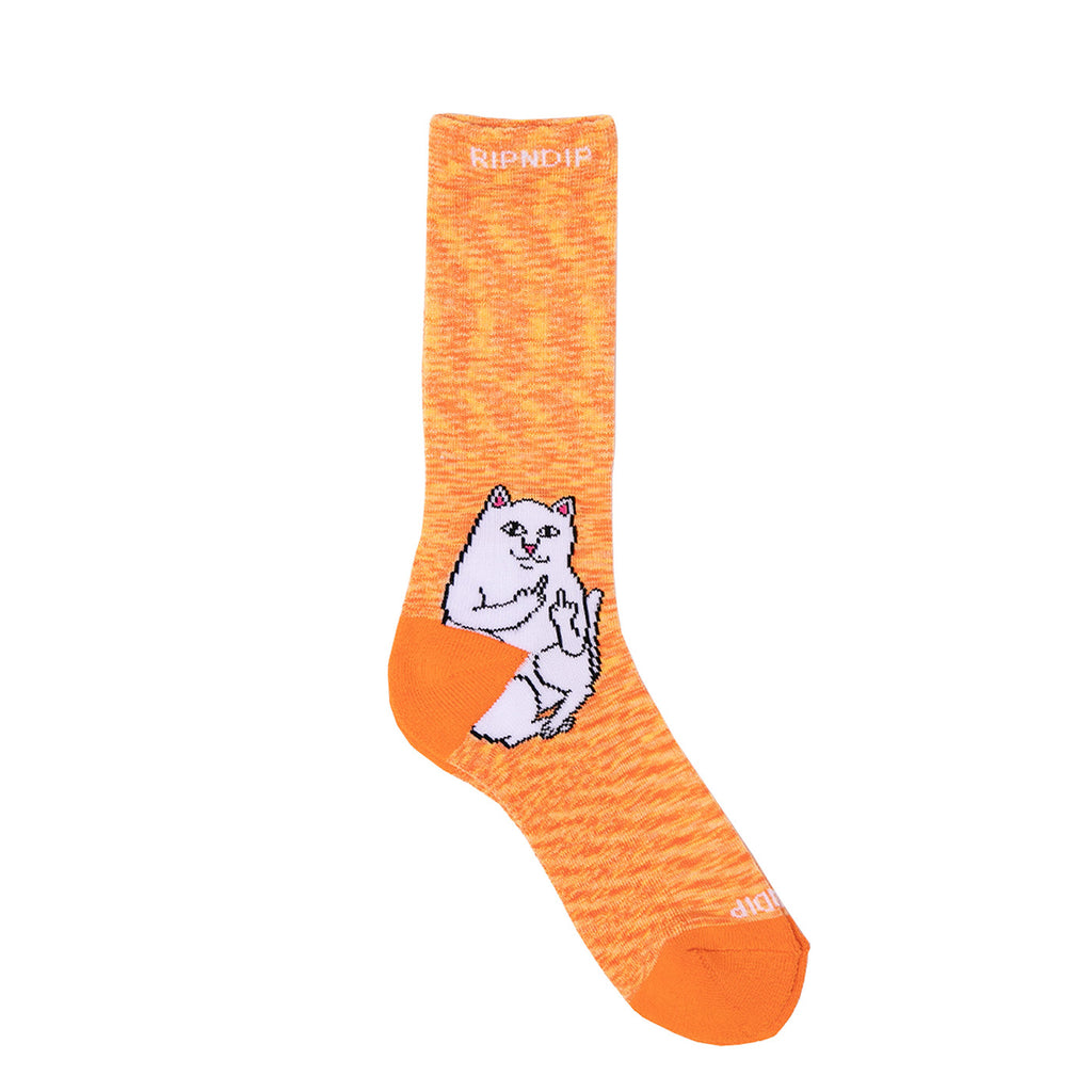 RIPNDIP Lord Nermal Socks in Orange Speckle - Detail