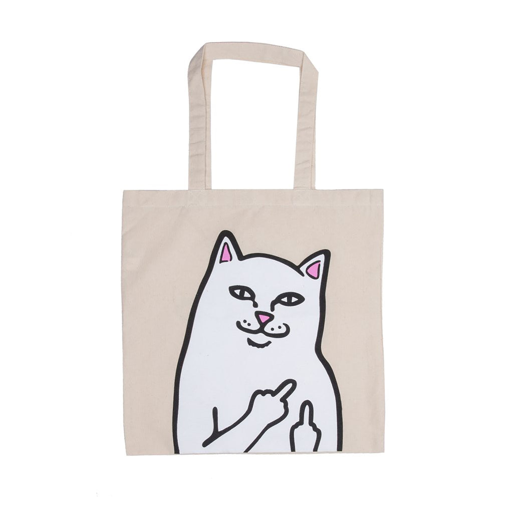RIPNDIP Lord Nermal Tote Bag in Natural