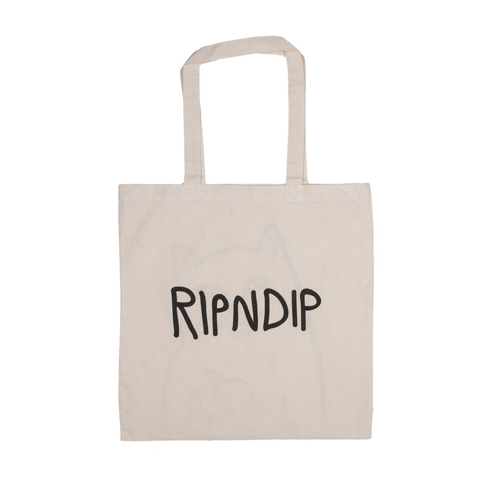 RIPNDIP Lord Nermal Tote Bag in Natural - Back
