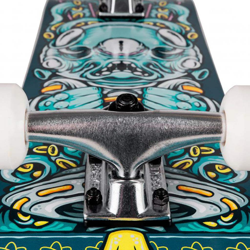 "Rocket Skateboards Alien Pile Up Complete Skateboard in 7.375"" - Truck"