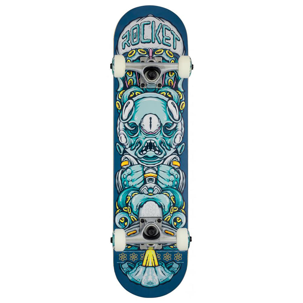 Rocket Skateboards Alien Pile Up Complete Skateboard in 7.375""