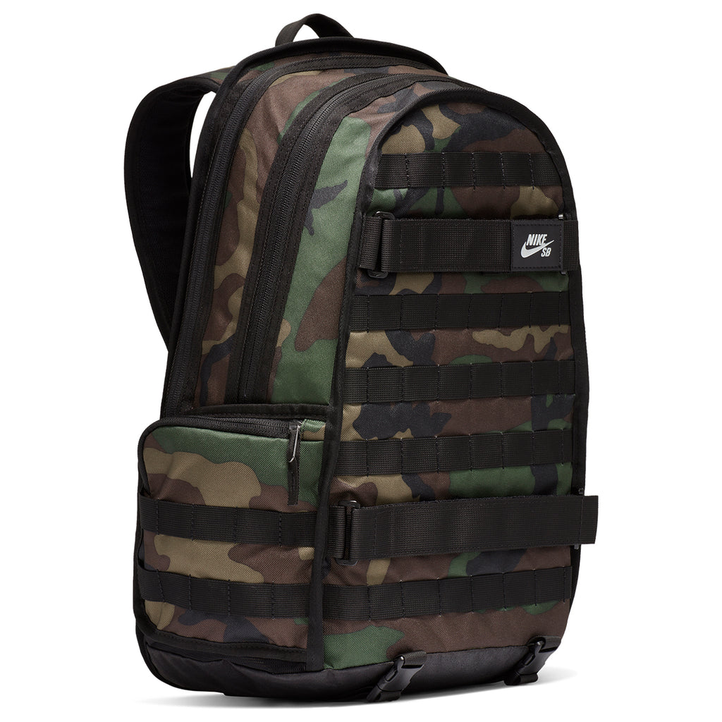 Nike SB RPM Graphic Backpack in Black / Black / Black - Side