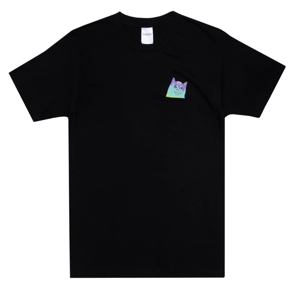RIPNDIP Rainbow Nerm Pocket T Shirt in Black
