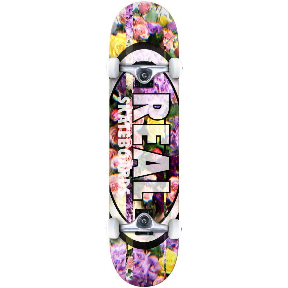 Real Skateboards Oval Glitch Complete Skateboard in 8.25""