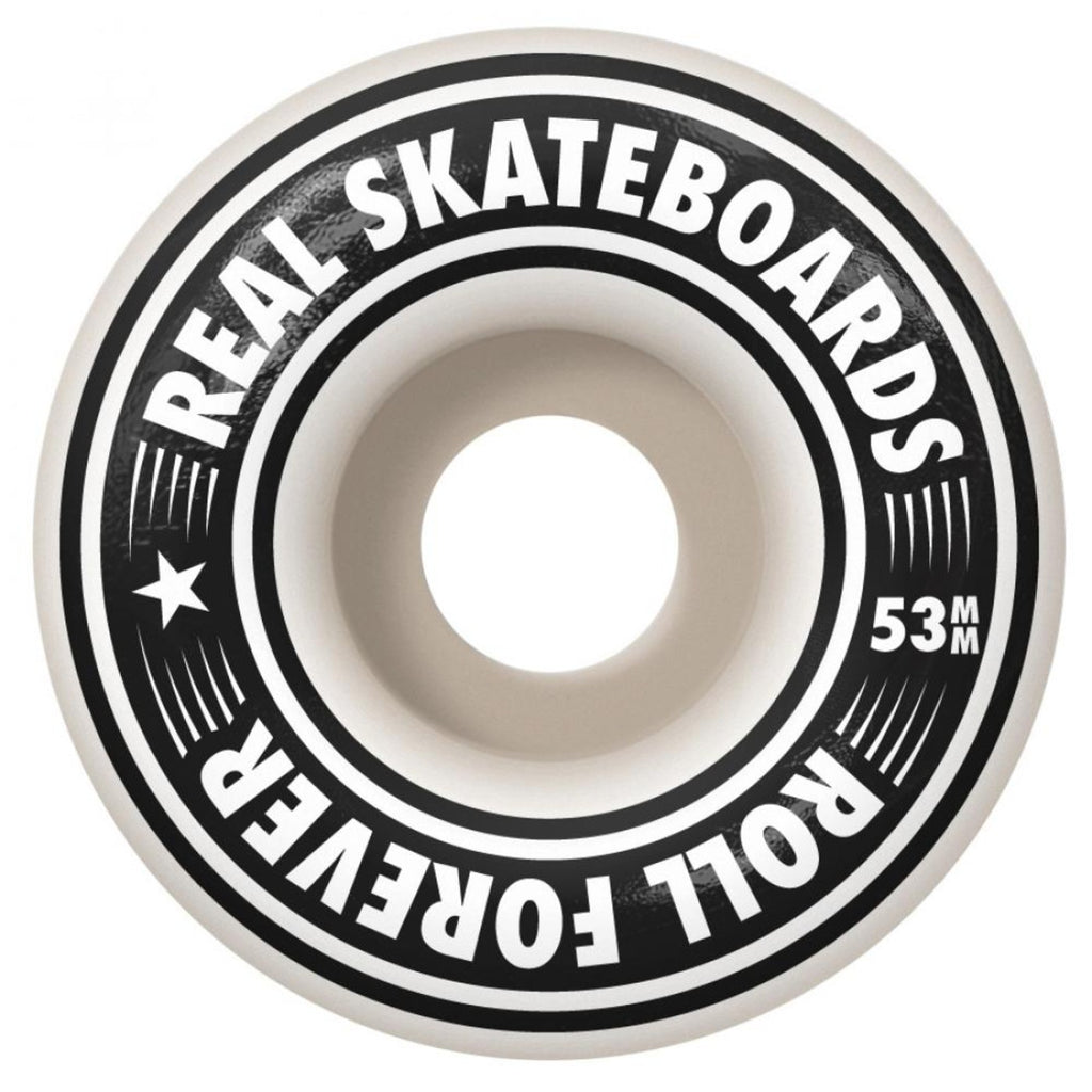 "Real Skateboards Oval Glitch Complete Skateboard in 8.25"" - Wheels"