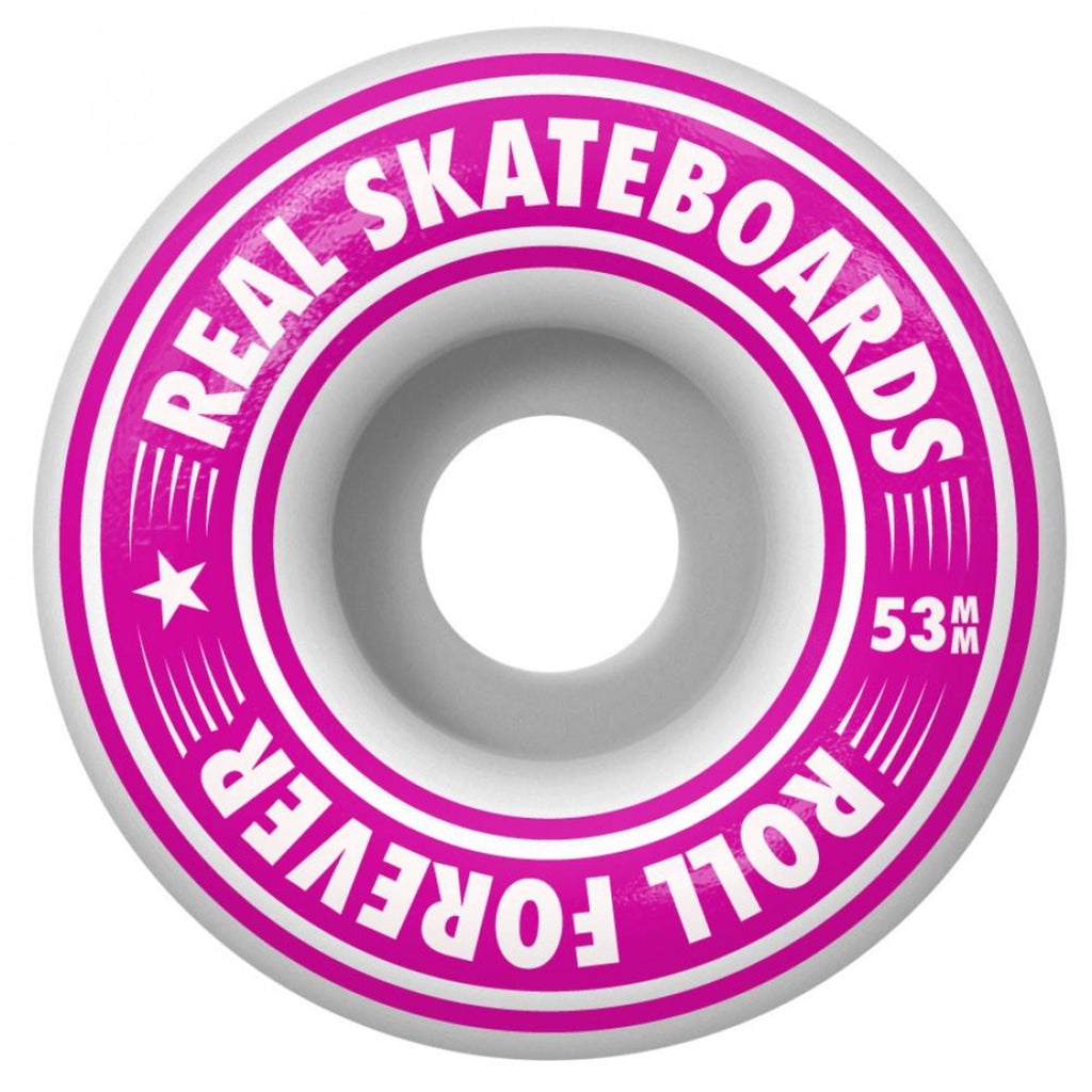 "Real Skateboards Oval Stripes Complete Skateboard in 8"" - Wheels"