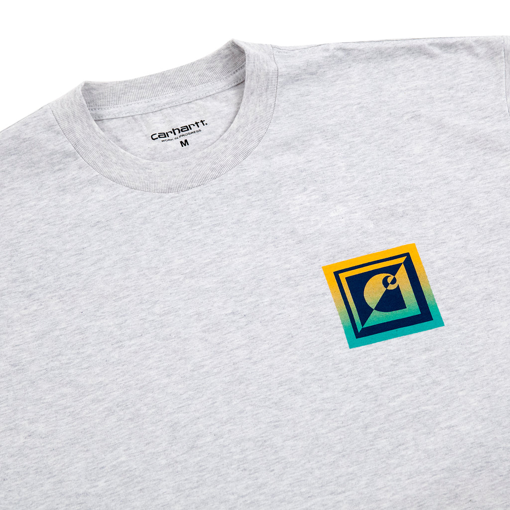 Carhartt WIP Record Club T Shirt in Ash Heather - Detail