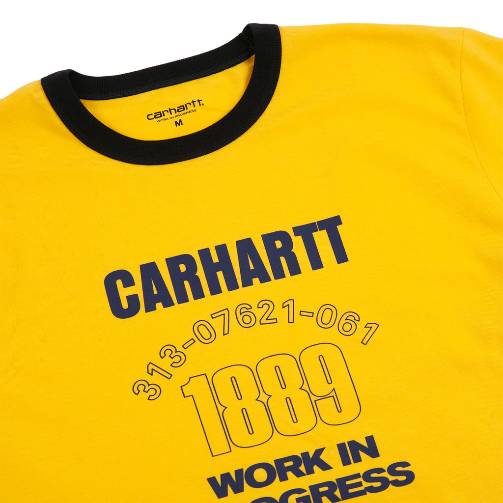 Carhartt WIP Ringer 1889 T Shirt in Sunflower / Dark Navy