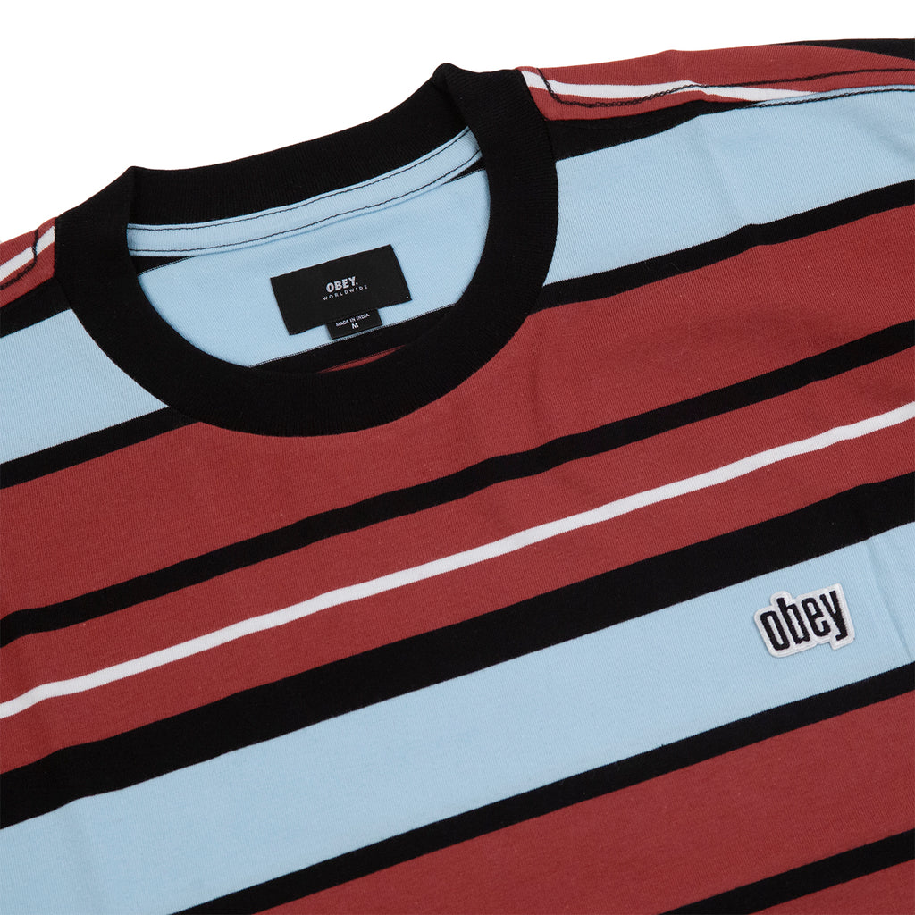 Obey Clothing Roll Call T Shirt in Brick Multi - Detail