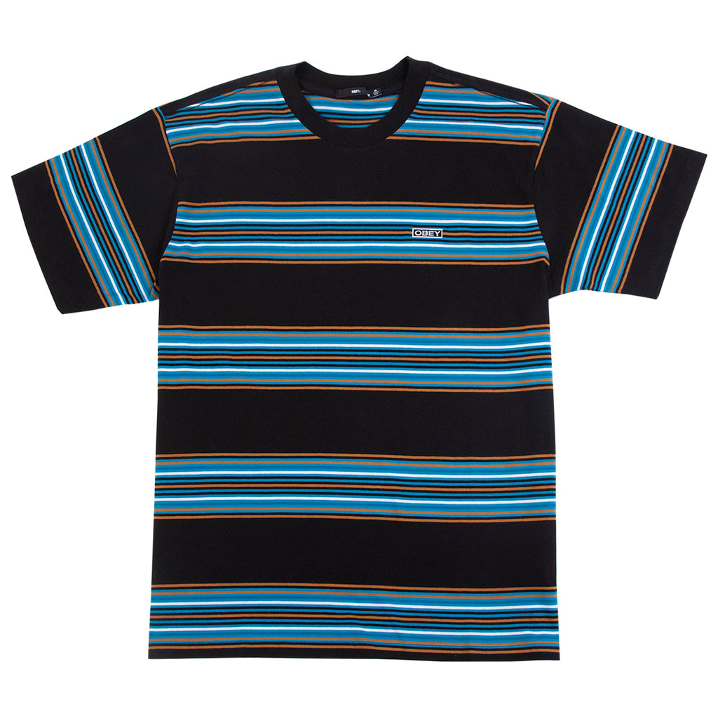 Obey Clothing Route Classic T Shirt in Black Multi