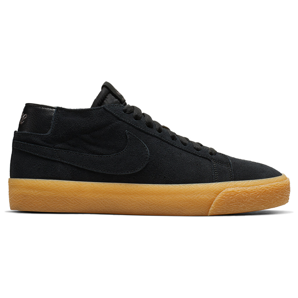 Nike SB Zoom Blazer Chukka Shoes in Black / Black - Thunder Grey / Gum