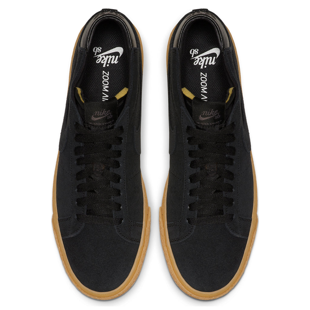 Nike SB Zoom Blazer Chukka Shoes in Black / Black - Thunder Grey / Gum - Top