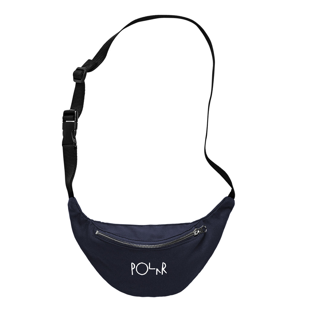 Polar Skate Co Script Logo Hip Bag in Navy