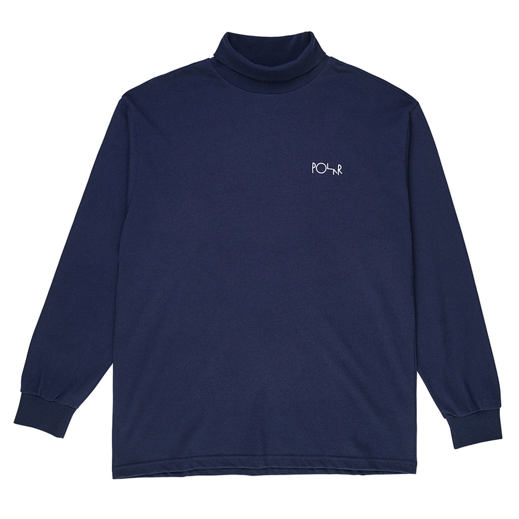 Polar Skate Co Script Turtleneck in Rich Navy