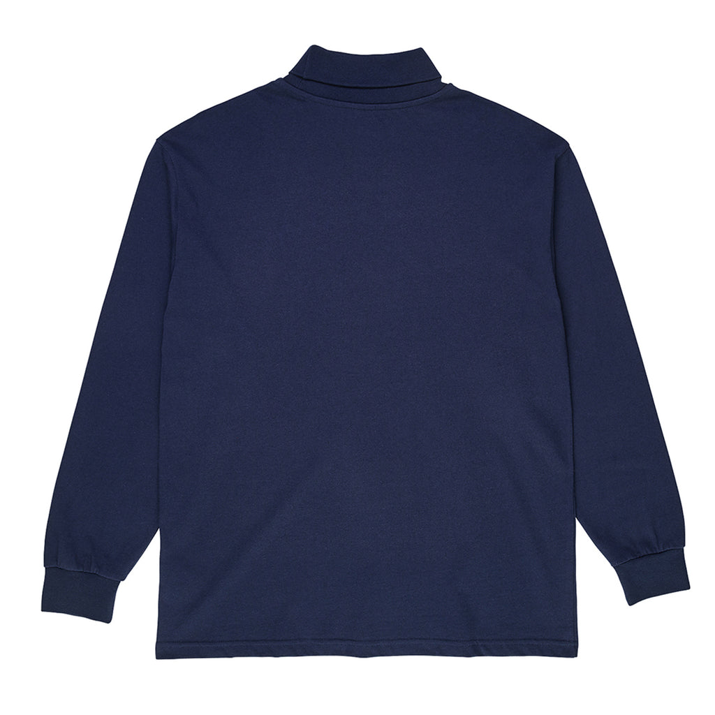 Polar Skate Co Script Turtleneck in Rich Navy - Back