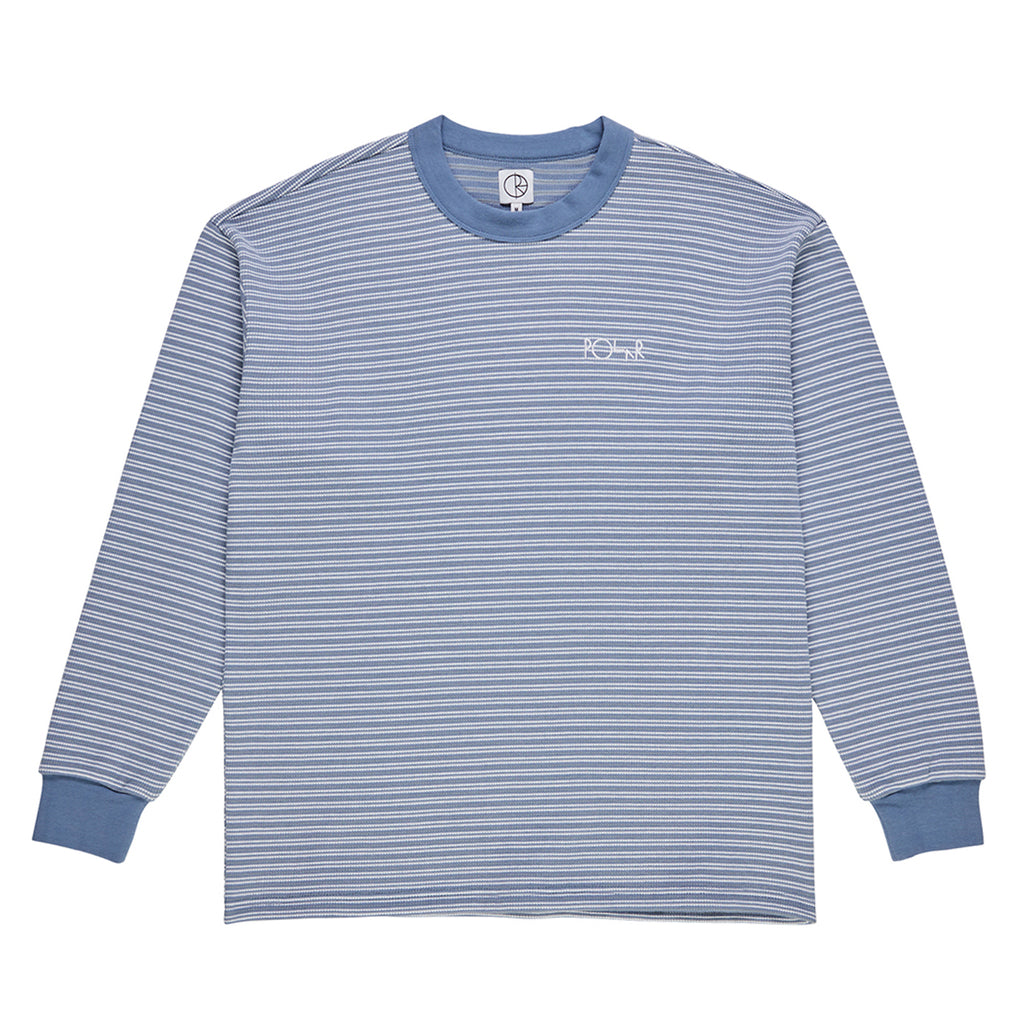 Polar Skate Co L/S Shin Waffle T Shirt in Faded Violet