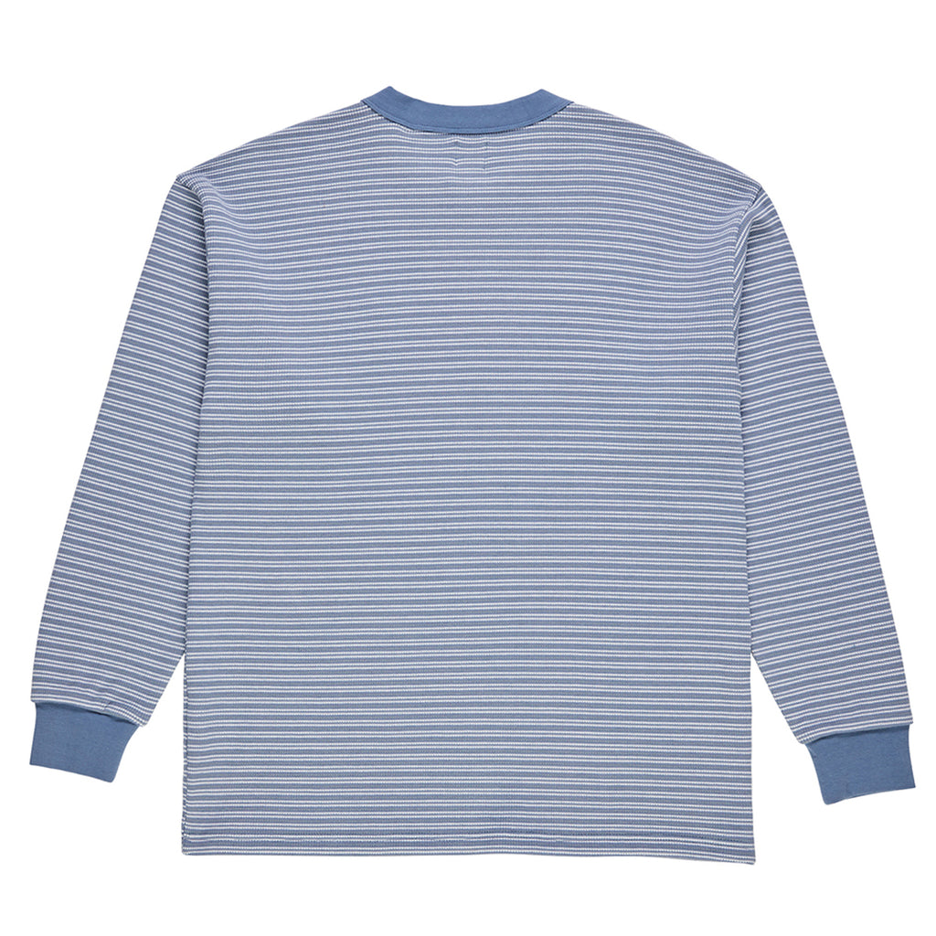 Polar Skate Co L/S Shin Waffle T Shirt in Faded Violet - Back