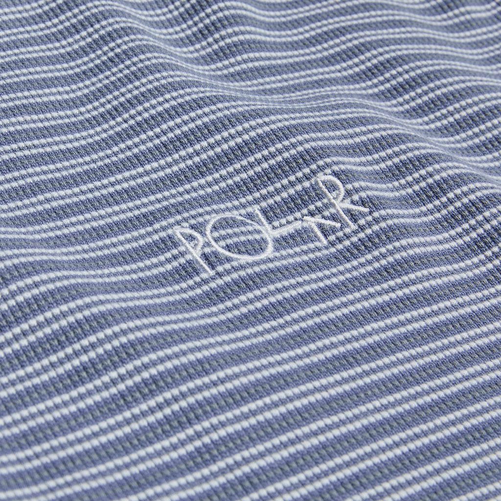 Polar Skate Co L/S Shin Waffle T Shirt in Faded Violet - Detail