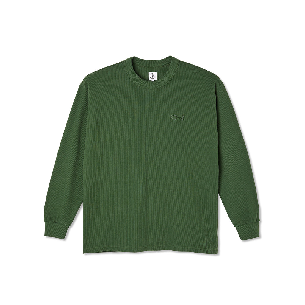 Polar Skate Co L/S Shin Knit in Hunter Green