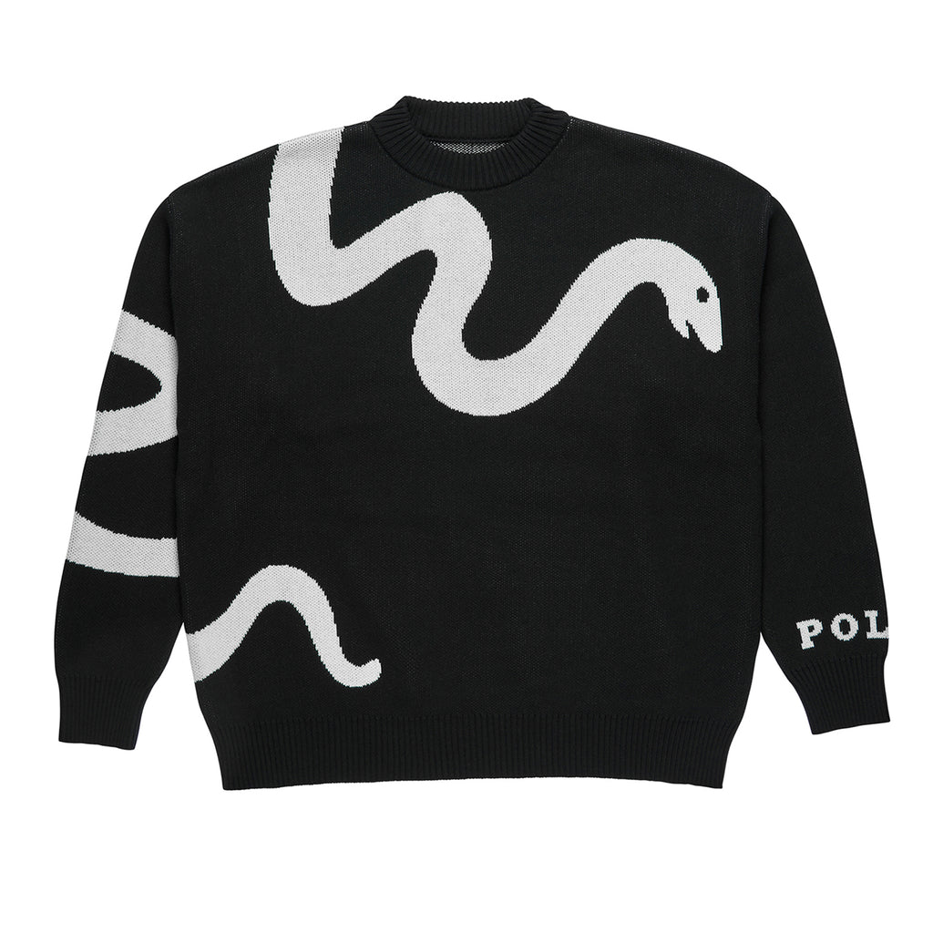 Polar Skate Co Snake Knit Sweater in Black / White
