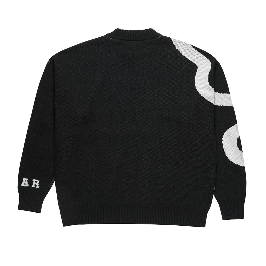 Polar Skate Co Snake Knit Sweater in Black / White - Back